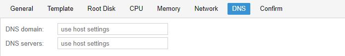 DNS : Use host settings